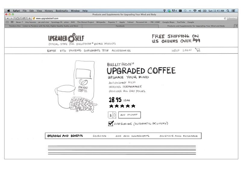 Wireframe Sketch: Product Details