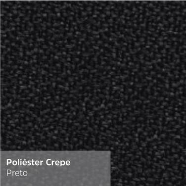 Poliéster Crepe Preto