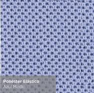 Poliéster Elástico Azul Médio