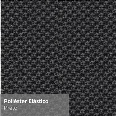 Poliéster Elástico Preto