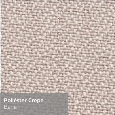 Poliéster Crepe Bege