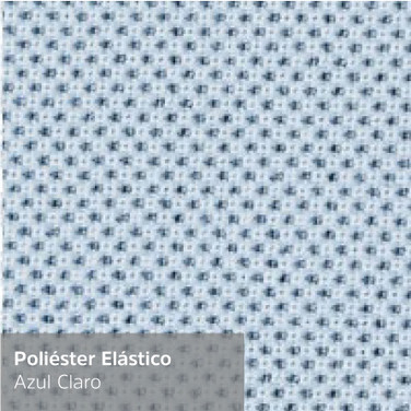 Poliéster Elástico Azul Claro