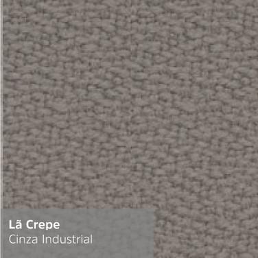 Lã Crepe Cinza Industrial