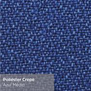 Poliéster Crepe Azul Médio