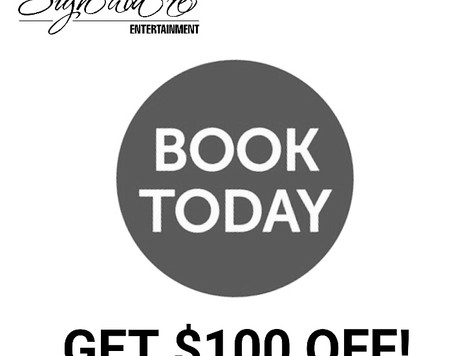 $100 Off Offer & Complimentary DJ Service Draw