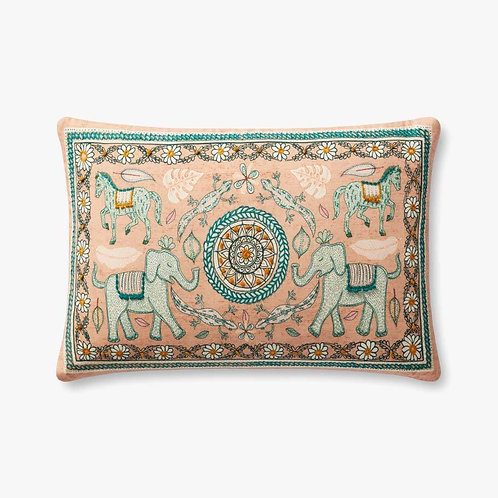 Elephant Sand / Multi Pillows Set of Two - Down Filled