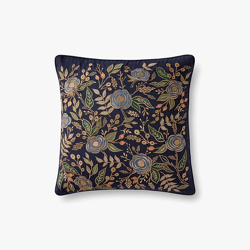 WILD FLOWERS OF BLUE Pillows Set of Two - Down Filled