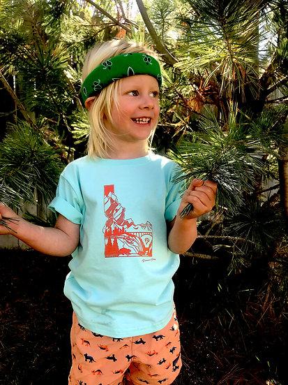 Idaho Adventure Seafoam/Orange (Emmit's Bday Shirt)