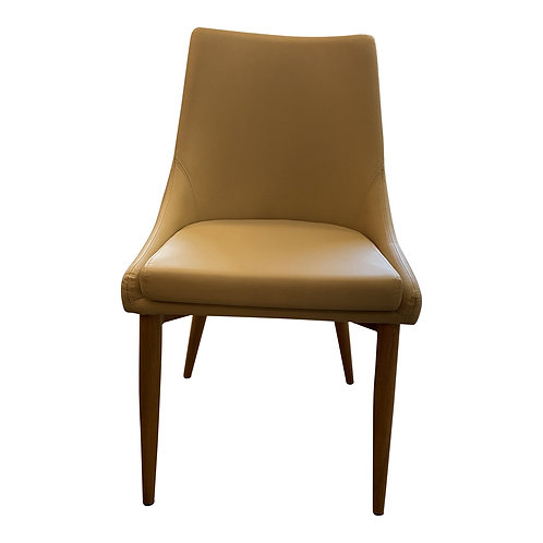 Trello Beige Leatherette Dining Chair