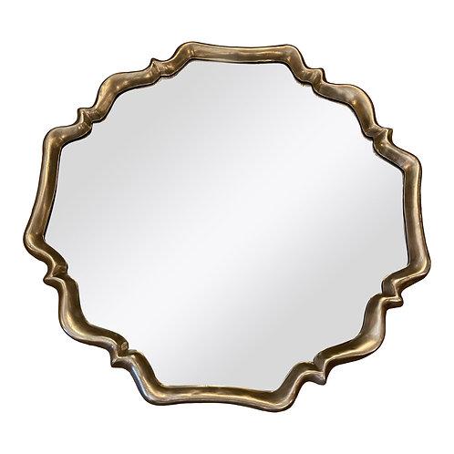Art Deco Silver Shield Mirror