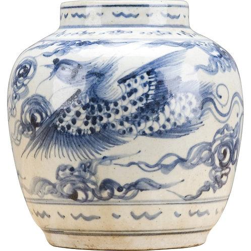 Blue And White Vase-Phoenix Vase