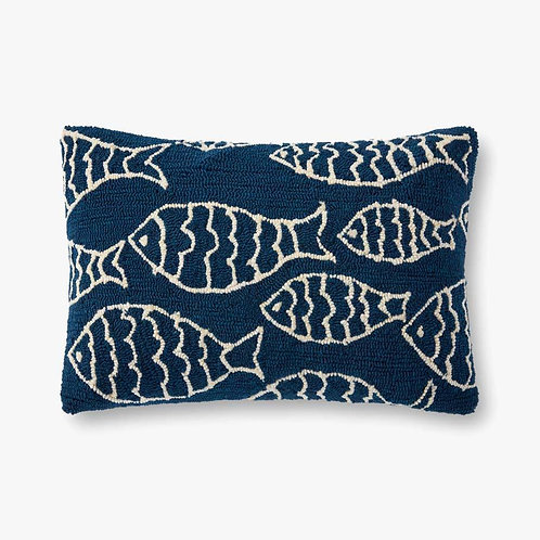 Deep Sea Delight of Navy Pillows Set of Two - Down Filled