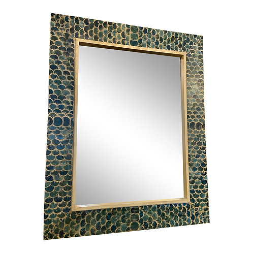 Fish Scale Framed Mirror