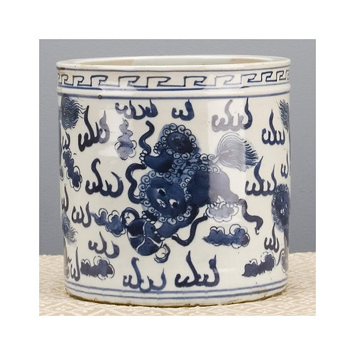Oriental Classic Porcelain Pot- Blue and White Kirin