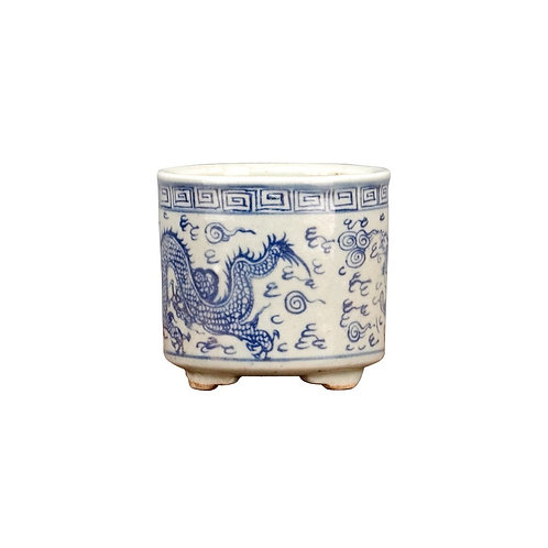 Small Round Basin - Classic Blue And White Set of 4