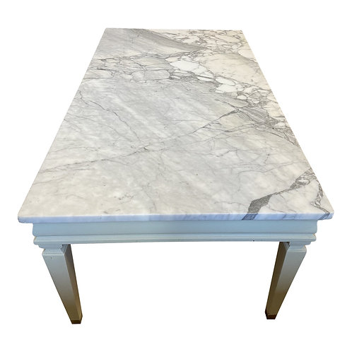 1950s Carrara Marble Top Coffee Table