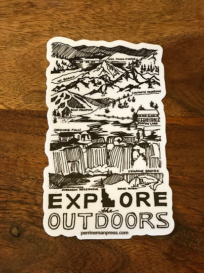 Explore the Outdoors Sticker
