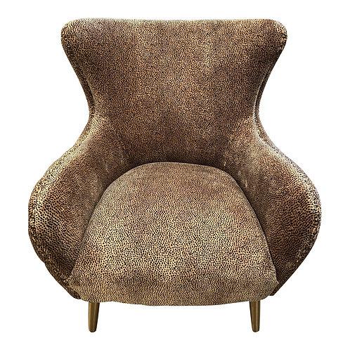 Boho Velvet Tufted Leopard Chair