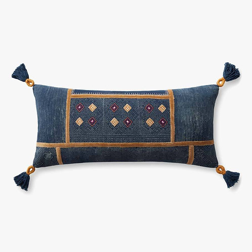 Diamond With Tassels Pillows Set of Two - Down Filled
