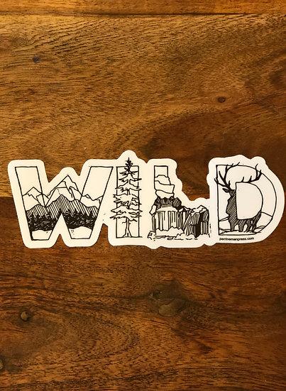 Wild Idaho Art Sticker