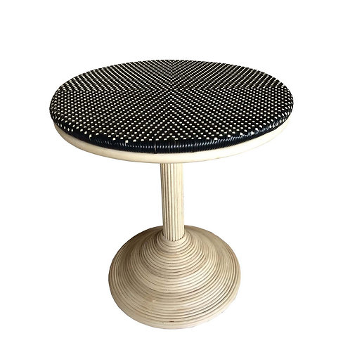 FRENCH BISTRO DINING TABLE - BLACK/BEIGE