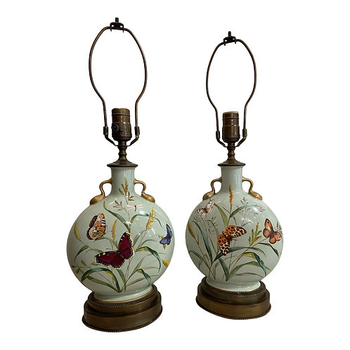 Vintage Butterfly Lamps - a Pair