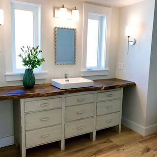 Custom- made Edge Wood Vanity