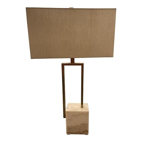 Quartz and Linen Lamp