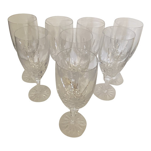 1950s Crystal Water Glasses - Set of 8