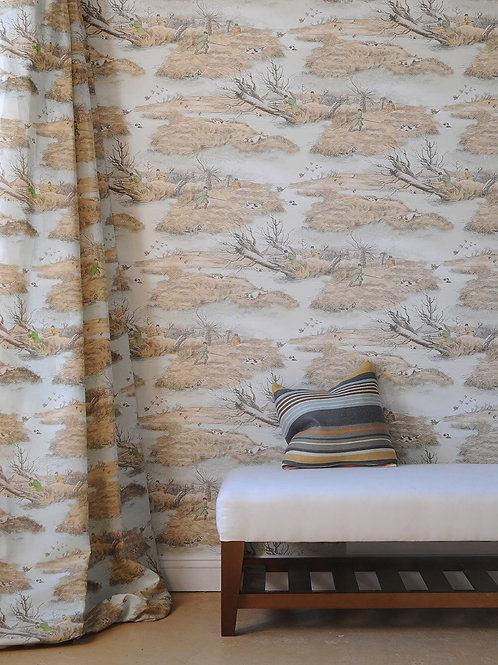 ALKEN WILDFOWLERS FABRIC AND WALLPAPER AVAILABLE IN ASSORTED COLORS