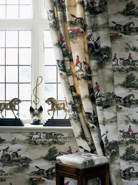 HUNTING SCENES FABRIC AND WALLPAPER