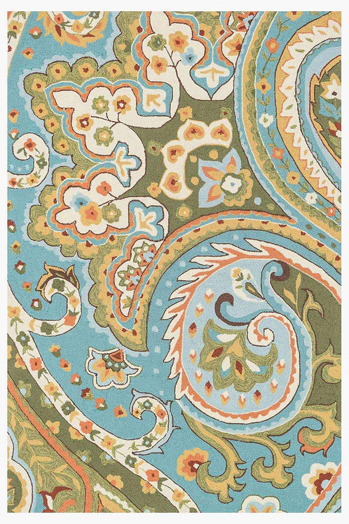 Blue / Green Paisley Rug Various Sizes Available