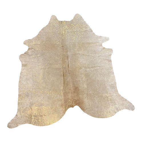 Gilded Gold Cow Hide Rug