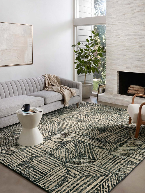 Midnight / Taupe Rug Various Sizes Available