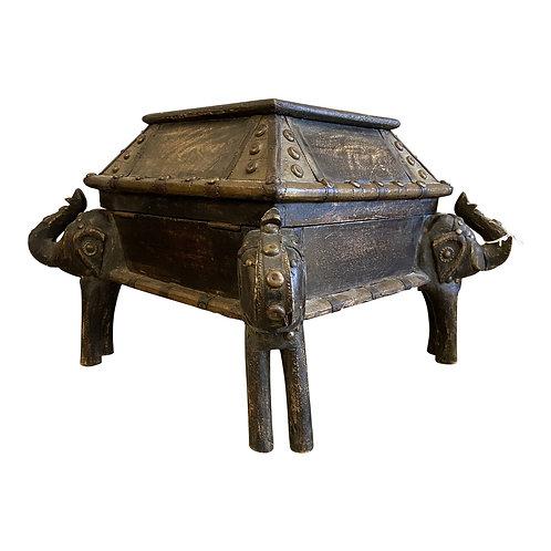 1920s Carved Elephant Box