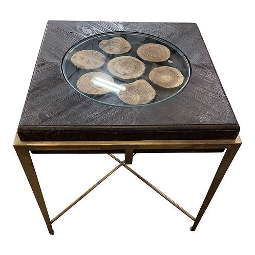 Uttermost Wood Disc Side Table