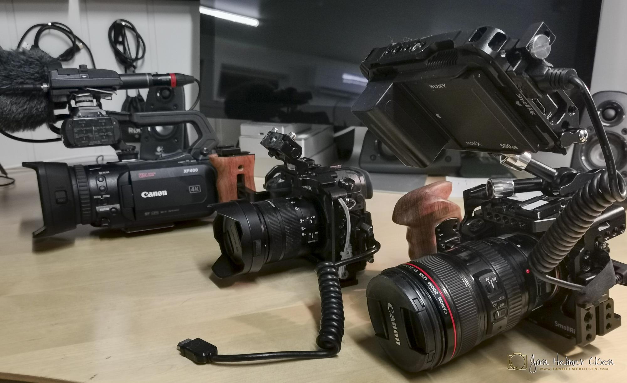 Canon XF400, Panasonic gh5, Sony A7Sii