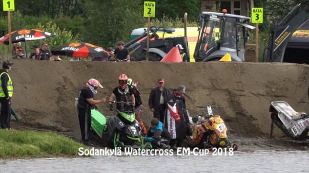 Morten Blien B-finalen Sodankylä watercross 2018