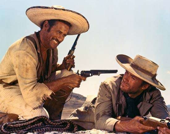 The Good, the Bad, and the Ugly Eli Wallach (left) and Clint Eastwood in The Good, the Bad, and the Ugly (1966), directed by Sergio Leone. © 1966 United Artists Corporation with Produzioni Europee Associati, Arturo González Producciones Cinematográficas, and Constantin Film Produktion