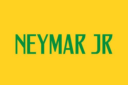 Brazil Home Nameblock - Adult -Neymar JR
