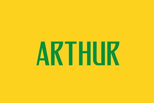 Brazil Home Nameblock - Youth -Arthur