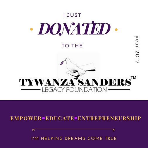 I just donated to Tywanza Sanders Legacy Foundation gra
