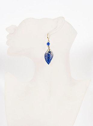 Poésie - Feuille bleue