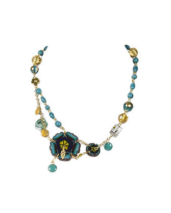 Chaman turquoise - floral