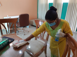 Cleaning Table in SA2 apartment with San