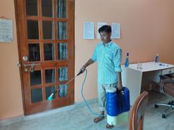 Spraying Sodium Hypochlorite 3