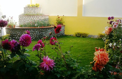 Terrace Garden with flowers 1