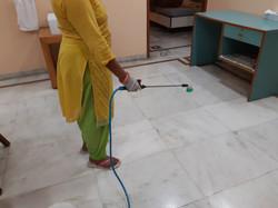 Spraying Sodium Hypochlorite 4