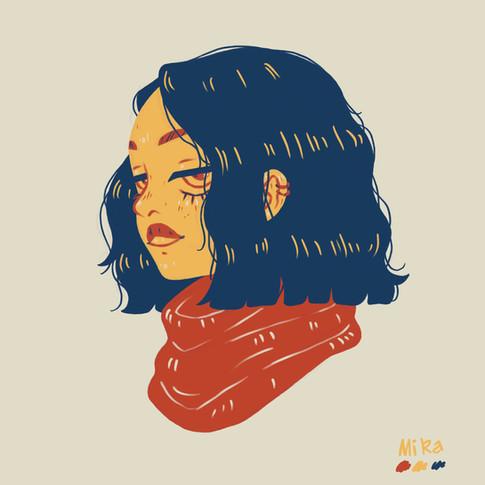 Portrait Study in Three Colors