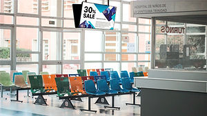 Industrial Grade display for media in Medical centers
